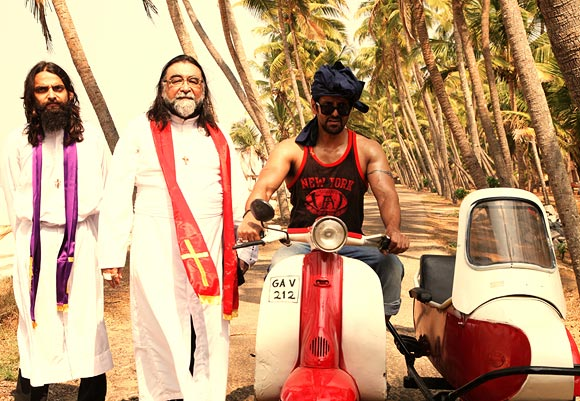 Manish Jha, Prahlad Kakkar, and Vikram in David