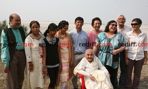 Reema Kagti with her family in Guwahati, 2010