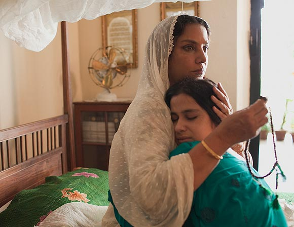 Shabana Azmi and Anita Majumdar in Midnights Children