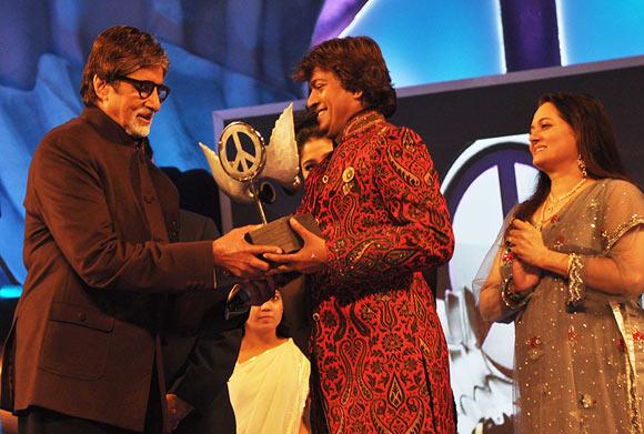 Amitabh Bachchan and Aadesh Srivastava