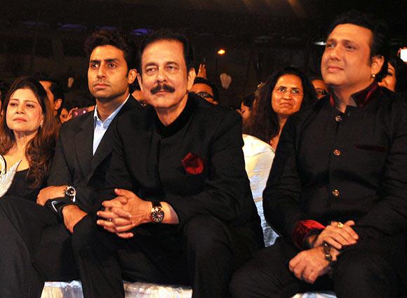 Sapna Mukherjee, Abhishek Bachchan, Subrata Roy and Govinda
