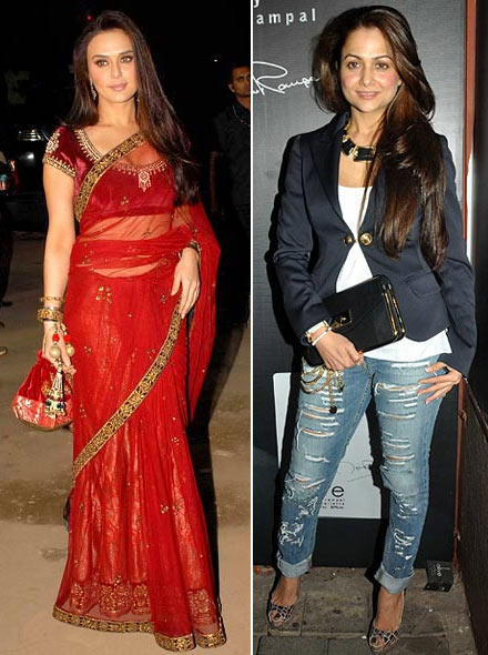 Preity Zinta and Amrita Arora