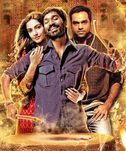 Sonam Kapoor, Dhanush and Abhay Deol in Raanjhanaa