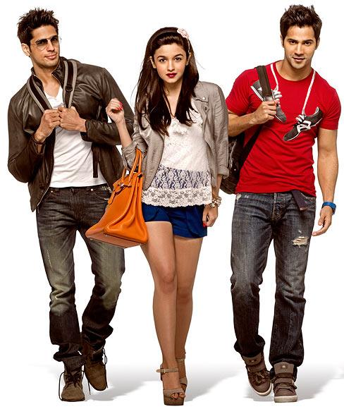 Siddharth Malhotra, Alia Bhatt and Varun Dhawan in SOTY