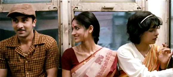 Ranbir Kapoor, Ileana and Priyanka Chopra in Barfi