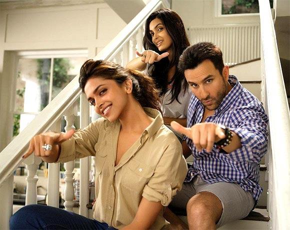 Deepika Padukone, Saif Ali Khan and Diana Penty in Cocktail