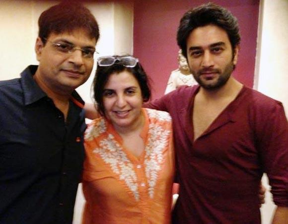 Irshad Kamil, Farah Khan and Shekhar Rajvijan