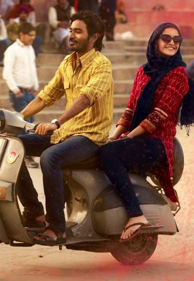 Dhanush and Sonam Kapoor in Raanjhanna