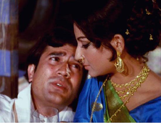 Rajesh Khanna and Sharmila Tagore in Amar Prem