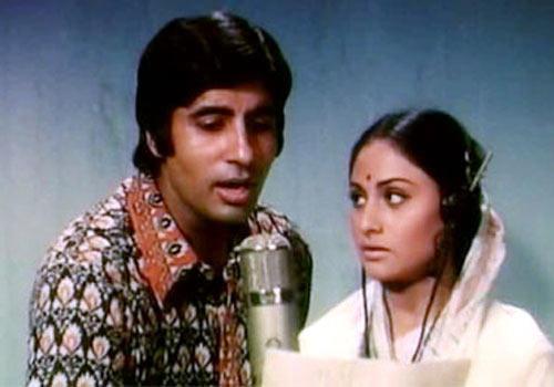Amitabh and Jaya Bachchan in Abhimaan