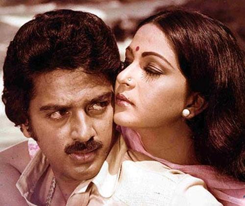 Kamal Haasan and Rati Agnihotri in Ek Duuje Ke Liye