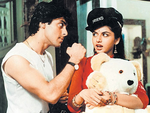 Salman Khan and Bhagyashree in Maine Pyaar Kiya