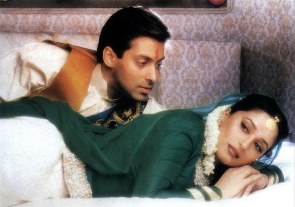 Madhuri Dixit and Salman Khan in Hum Aapke Hain Koun..!