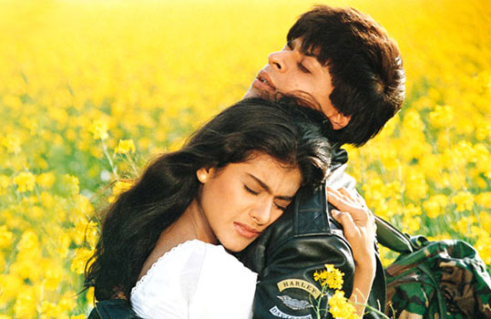 Kajol and Shah Rukh Khan in Dilwale Dulhania Le Jayenge