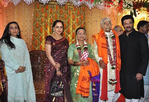 Anil and Sunita Kapoor, Hema Malini