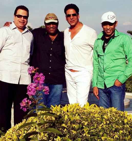 Ramesh Taurani and Akshay Kumar and with Sajid-Farhad
