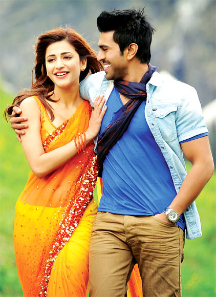 Shruti Hassan and Ram Charan in Yevadu