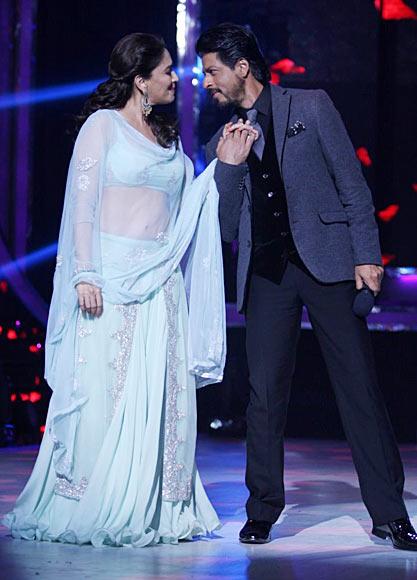 Madhuri Dixit and Shah Rukh Khan