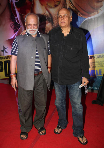 Mahesh Bhatt with a guest