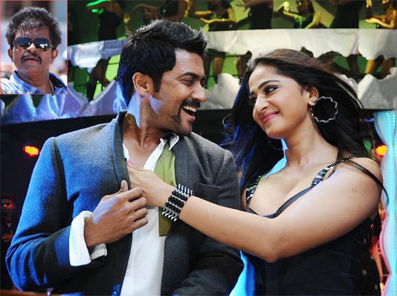 Suriya and Anushka Shetty in Singham 2. Inset: Director Hari Gopalakrishnan