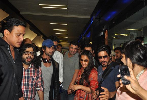 Pritam, Shahid Kapoor, Siddharth Roy Kapur, Vidya Bala and Shah Rukh Khan
