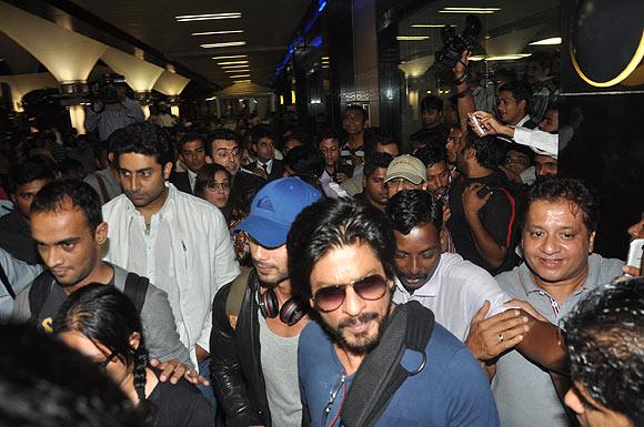 Shah Rukh Khan, Shahid Kapoor, Abhishek Bachchan, Dia Mirza and Sahil Sangha