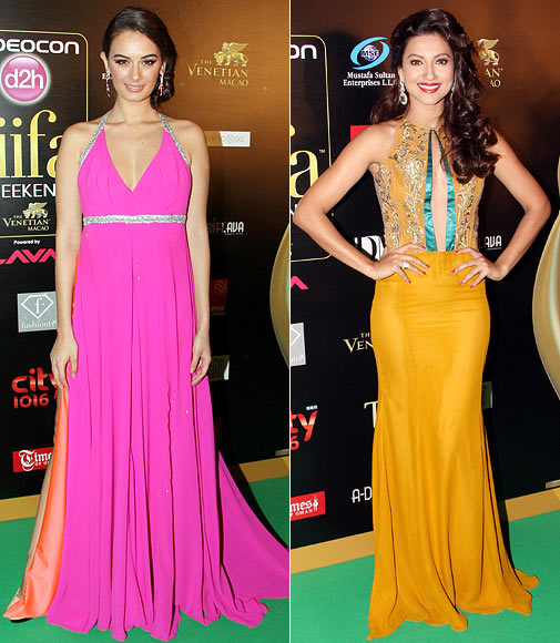 Evelyn Sharma and Gauhar Khan