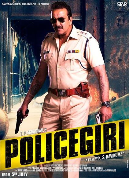 Sanjay Dutt in Policegiri poster