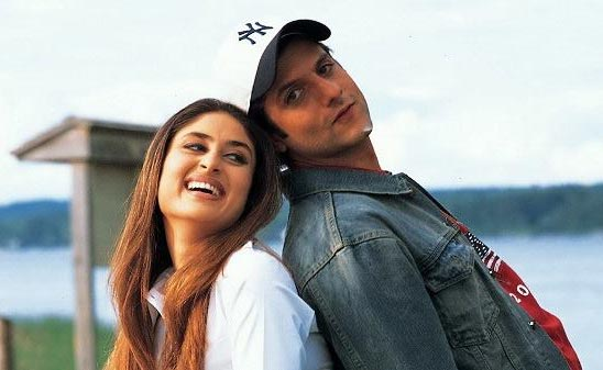 Kareena Kapoor and Fardeen Khan in Khushi