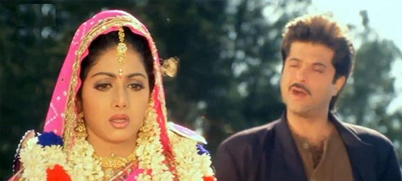Sridevi and Anil Kapoor in Mr Bechara