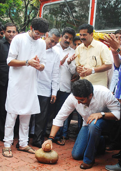 Aditya Thackeray and Abhishek Bachchan