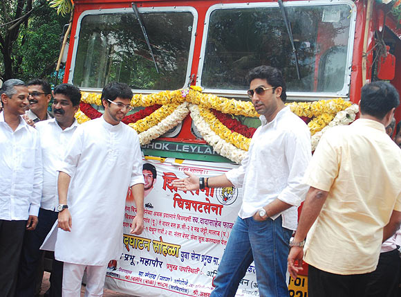 Sanjay Ambole, Nitin Desai, Aditya Thackeray and Abhishek Bachchan