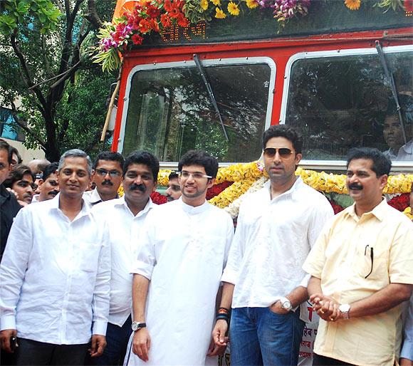 Sanjay Ambole, Nitin Desai, Aditya Thackeray, Abhishek Bachchan and Aadesh Bandekar