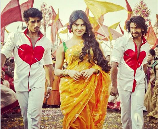 Arjun Kapoor, Priyanka Chopra and Ranveer Singh in Gundey