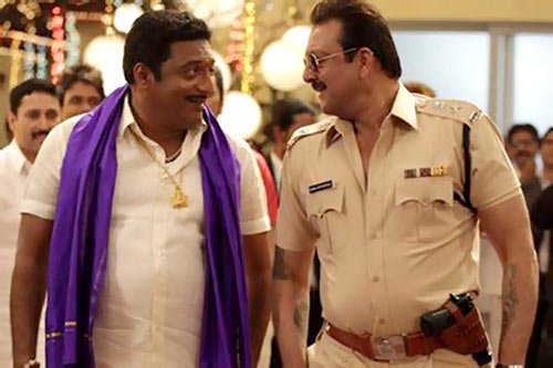 Prakash Raj and Sanajay Dutt in Policegiri