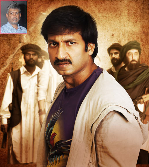 Gopichand in Sahasam. Inset: Director Chandrasekhar Yeleti