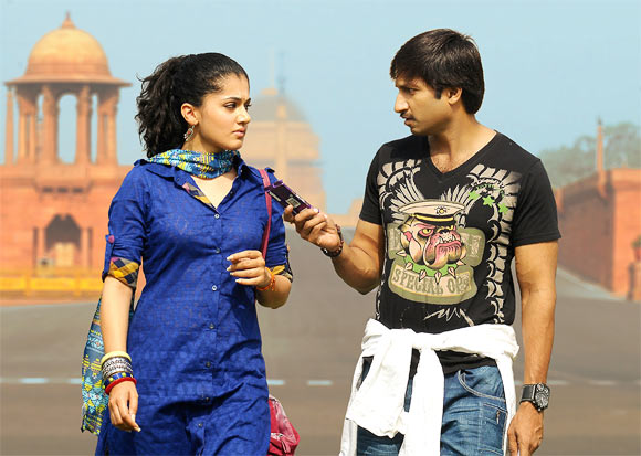 Taapsee Pannu and Gopichand in Sahasam