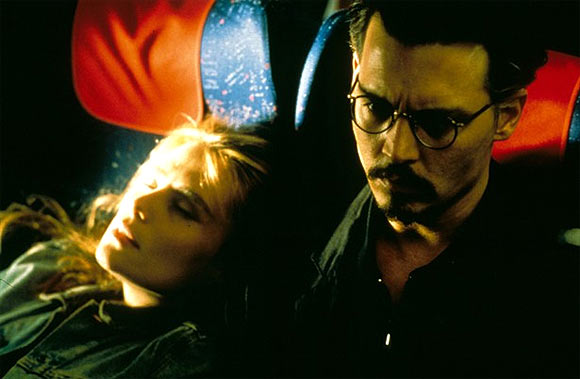 Emmanuelle Seigner and Johnny Depp in The Ninth Gate