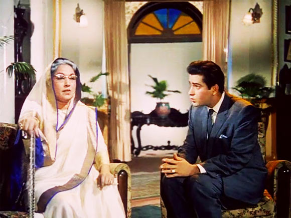 Lalita Pawar and Shammi Kapoor in Junglee