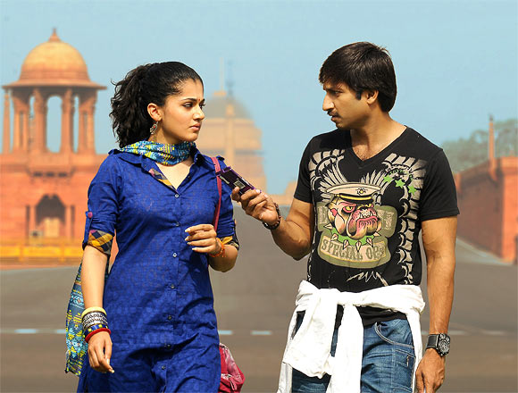 Gopichand and Taapsee Pannu in Sahasam