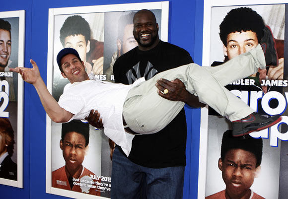 Adam Sandler and Shaquille O'Neal