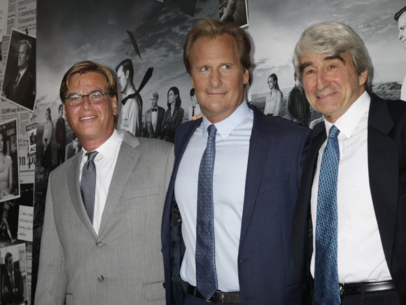 Aaron Sorkin, Jeff Daniels and Sam Waterston