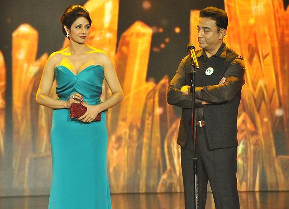 Sridevi and Kamal Haasan