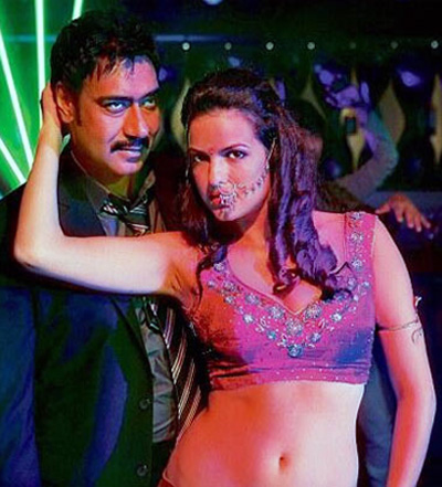 Natasa Stankovic and Ajay Devgn in Satyagraha