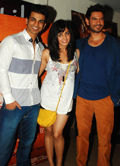 Highphill Mathews, Wamiqa Gabbi and Keith Sequeira