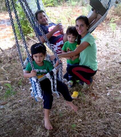 Tara Sharma with her family