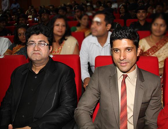 Prasoon Joshi and Farhan Akhtar