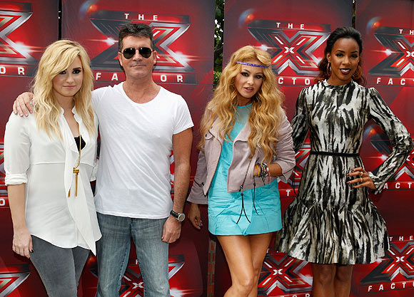 Demi Lovato, Simon Cowell, Paulina Rubio and Kelly Rowland