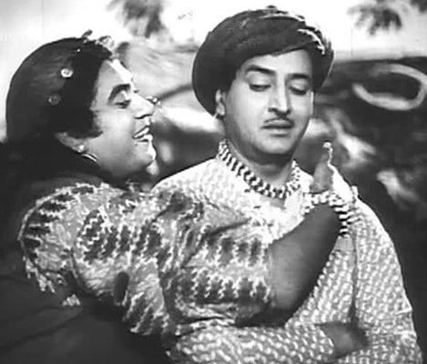 Kishore Kumar and Pran in Half Ticket (1962)