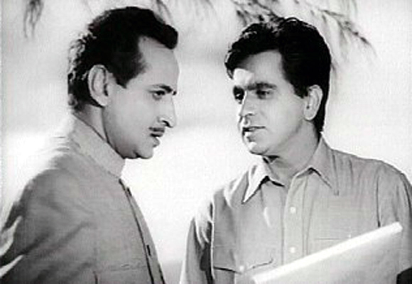 Dilip Kumar and Pran in Madhumati (1958)